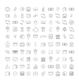 Set outline icon vector image vector image