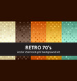 shamrock pattern set retro 70s seamless vector image vector image