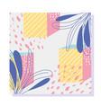 shapes geometric floral texture memphis 80s 90s vector image vector image