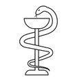 sign medicine serpent and bowl vector image