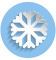 snowflake icon paper style vector image vector image