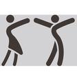 Sport dancing icon vector image vector image