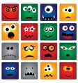 Square monsters vector image