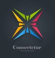 Star abstract colorful logo design template vector image