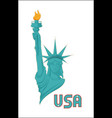 statue of liberty usa national symbol vector image