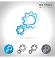 technics icon set vector image
