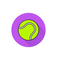 tennis ball icon on white background vector image vector image