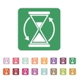The hourglass icon Clock symbol vector image vector image