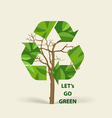 Tree shaped Recycle symbol symbol on the packaging vector image
