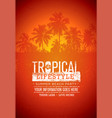 tropical lifestyle summer beach party creative vector image vector image