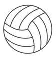 volleyball thin line icon game and sport vector image vector image
