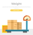 Weight Concept Web Banner in Flat Style Design vector image