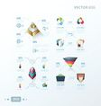 3D abstract infographic design vector image vector image