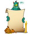 a halloween monster vector image