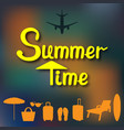 abstract summer background in a blurry sunset and vector image vector image