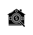 analysis of real estate prices black icon vector image