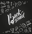 back to school background with doodle vector image vector image
