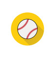 baseball line art icon on white background vector image vector image