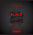 black background for black friday sale vector image vector image