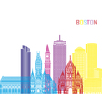 Boston V2 skyline pop vector image vector image