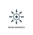 brand awareness icon simple element vector image vector image
