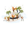brazilian samba carnival latino character hat vector image vector image