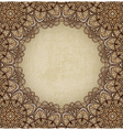 brown frame floral ornament old background vector image vector image