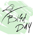 card international bird day vector image