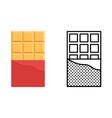chocolate bar icon set sweetness symbol vector image vector image