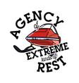color vintage agency of extreme emblem vector image vector image