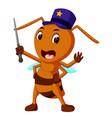 commander big brown ant vector image vector image
