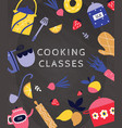 cooking master class and art culinary flat vector image