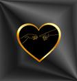 Creation of Adam inside a golden heart vector image