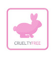 Cruelty free flat icon vector image