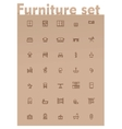 domestic furniture icon set vector image vector image