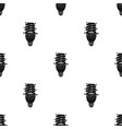 ecological fluorescent lamp icon in black style vector image