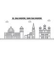 el salvador san salvador architecture skyline vector image vector image