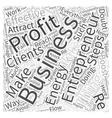 entrepreneur profit Word Cloud Concept vector image vector image