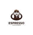 espresso coffee vector image