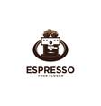 espresso coffee vector image vector image