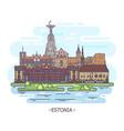 estonia architecture landmarks estonian monuments vector image