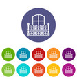 flat balcony icon simple style vector image vector image