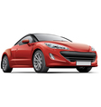 french compact sports coupe vector image vector image