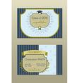 Gold Graduation Invitation Vintage Certificate vector image