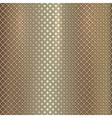 gold grille on steel background vector image vector image