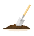 Hand Shovel in Ground vector image vector image