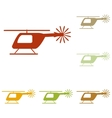 Helicopter sign vector image vector image