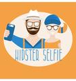 hipster selfie concept flat design vector image vector image