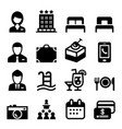 hotel icon set vector image vector image