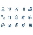 hotel service icons | piccolo vector image